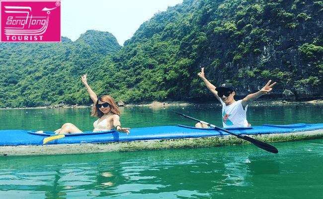 chèo kayaking hạ long